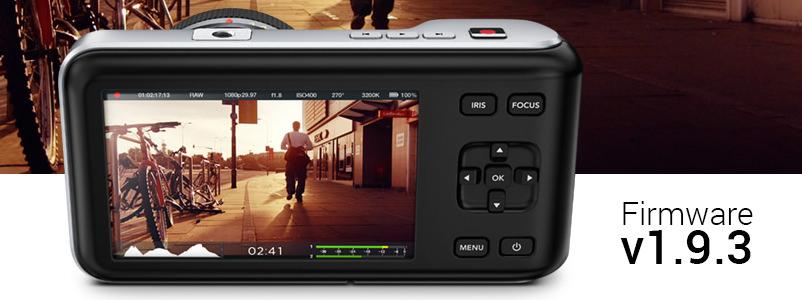 Mise à jour Logicielle Blackmagic Camera 1.9.3